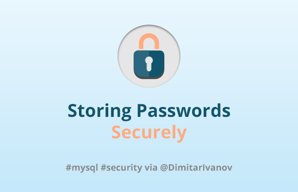 Storing passwords securely