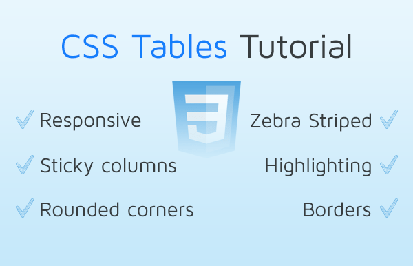 CSS Tables Tutorial | Responsive CSS Tables | CSS3 Table Example