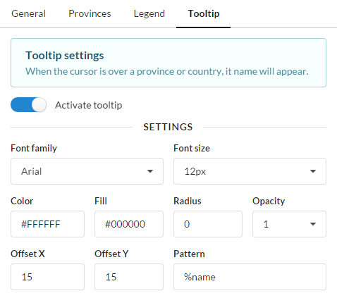 Tooltip settings