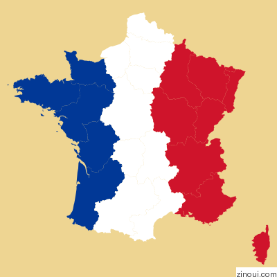 Geomap of France