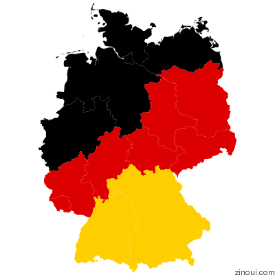 Geomap of Germany
